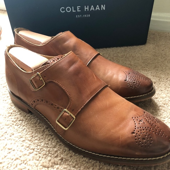 Cole Haan Mens Dawes Grand Double Monk Strap Loafer